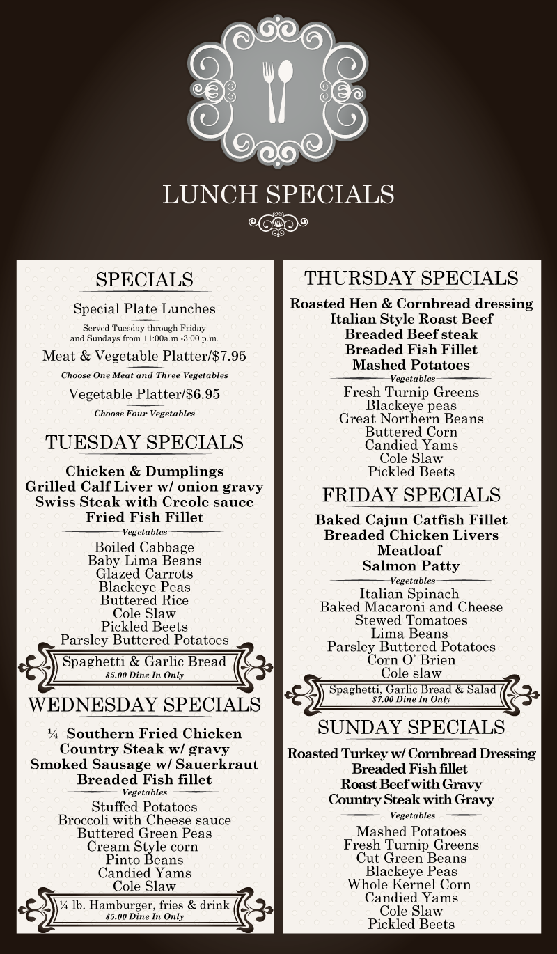 Dinos Grill Lunch Specials